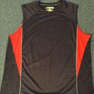 Gray & orange men's Tek Gear workout shirt (XL)